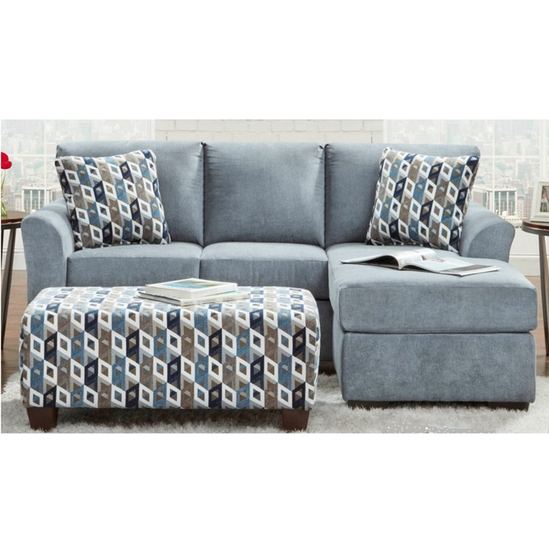 Affordable Furniture Cosmopolitan Chaise Sofa and Ottoman