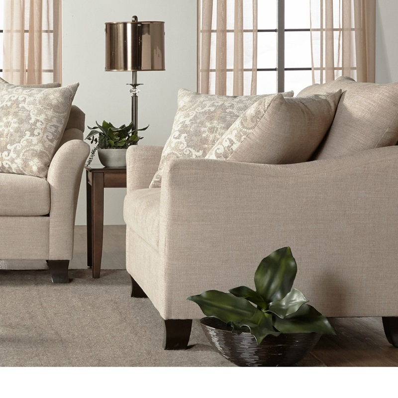 Transitional Chair with Serta Comfort