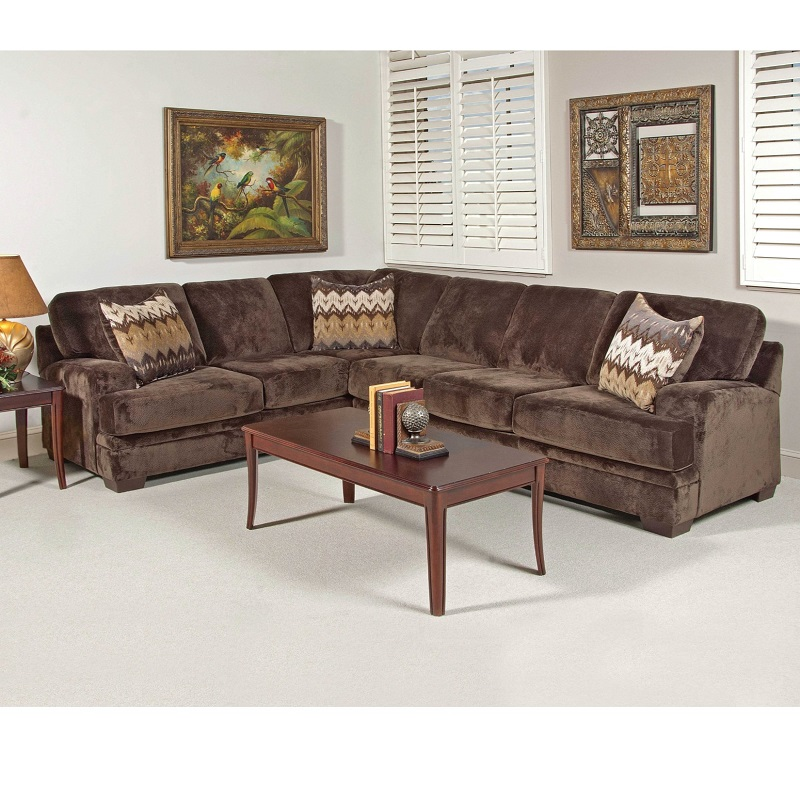 Olympia Chocolate Sectional