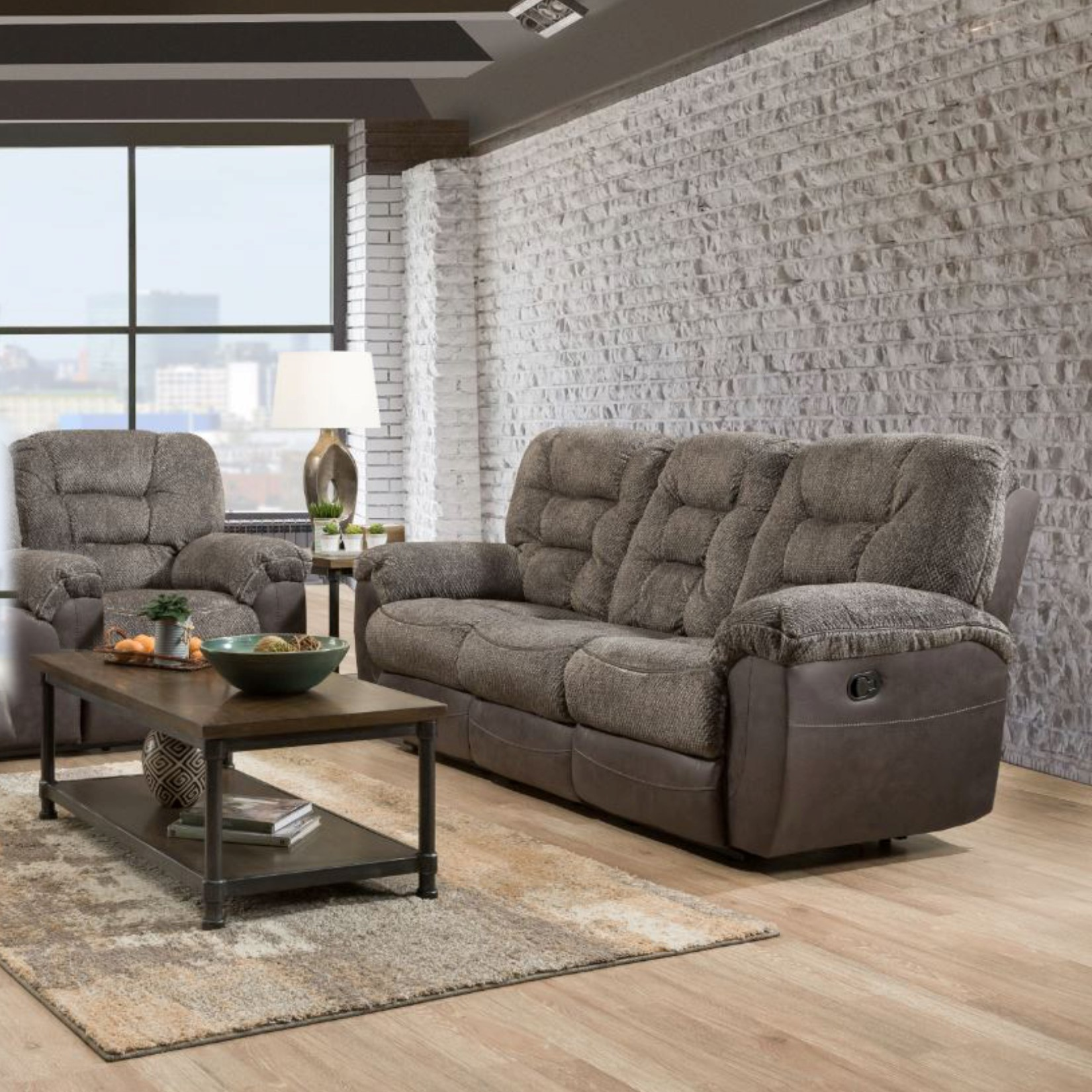 Lane Dual Reclining Sofa and Recliner