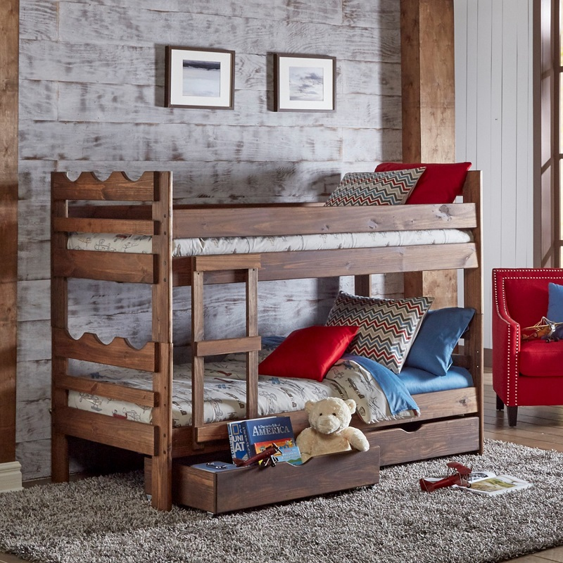 Twin/Twin Bunkbed with Scalloped Edges