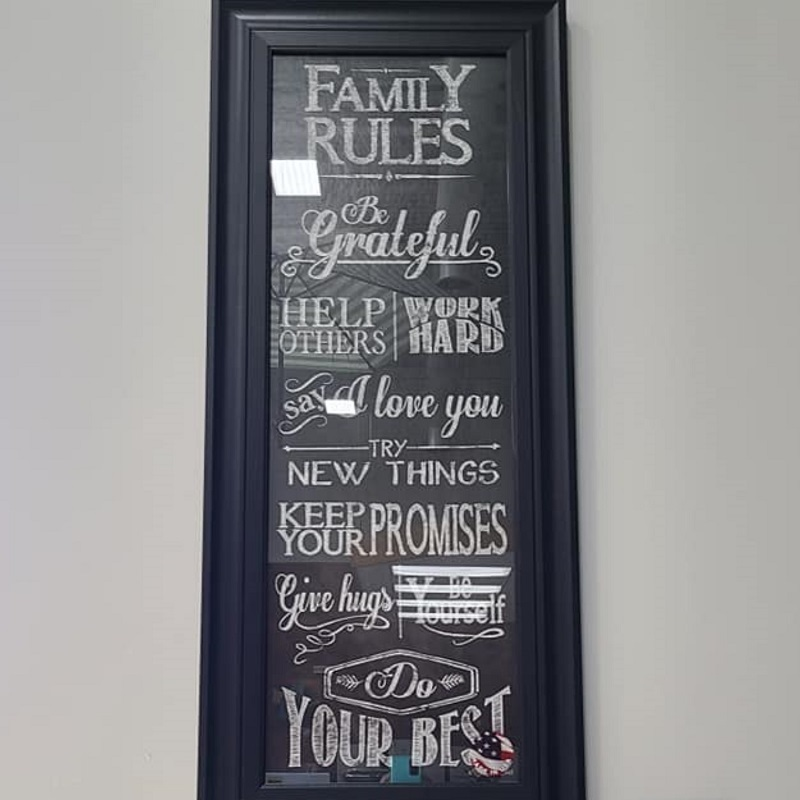 Wall Art - Family Rules