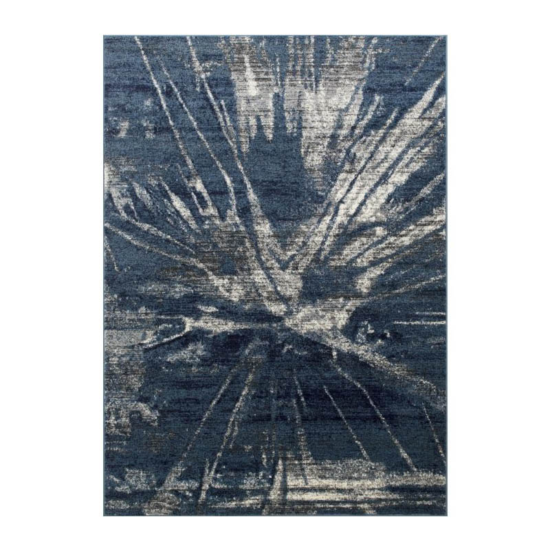 5' x 7' Modern Rug with Blue Abstract Pattern