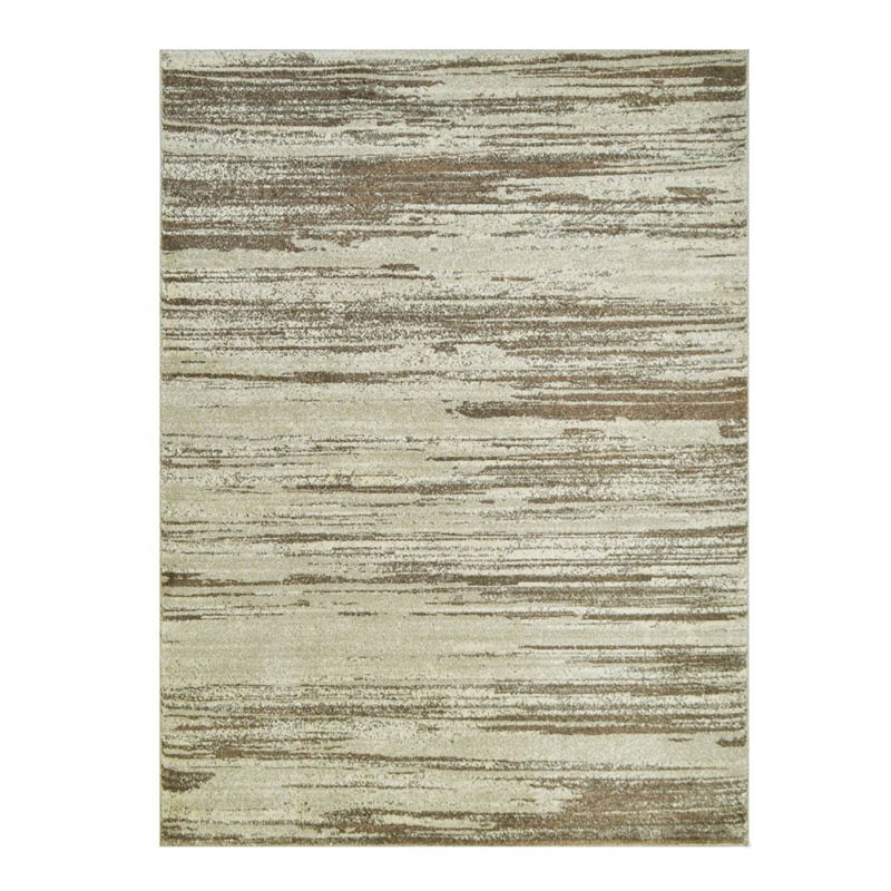 5' X 7' Modern Rug with Linear Golden Pattern